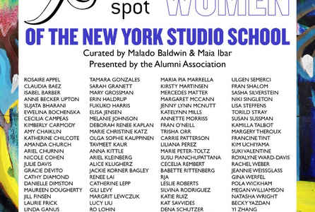 "poster for ""X Marks The Spot: Women Of The New York Studio School"" Exhibition"