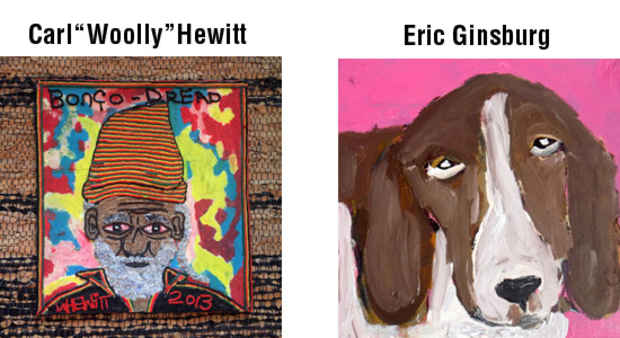 "poster for Carl ""Woolly"" Hewitt & Eric Ginsburg ""Portraits"""