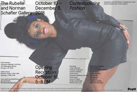 "poster for ""Contextualizing Fashion"" Exhibition"