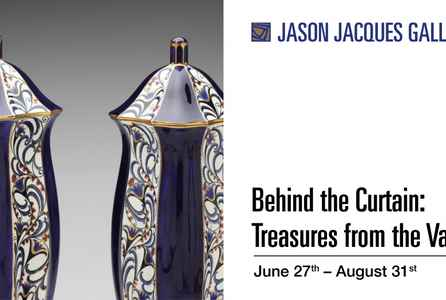 "poster for ""Behind the Curtain: Treasures from the Vault"" Exhibition"