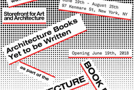 "poster for ""Architecture Books - Yet To Be Written"" Exhibition"