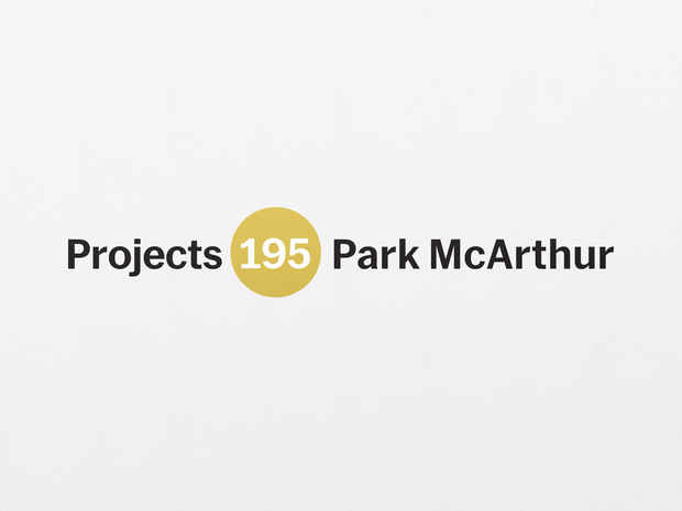 "poster for ""Projects 195: Park McArthur"" Exhibition"