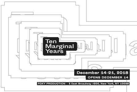 "poster for ""Marginal Editions / Ten Marginal Years"" Exhibition"