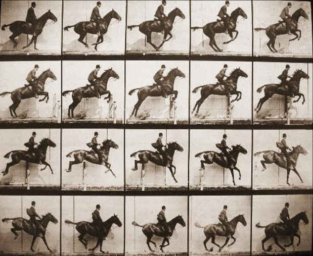 "poster for Eadweard Muybridge ""Stopping Time"""