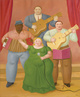 "poster for Fernando Botero ""Recent Paintings"""