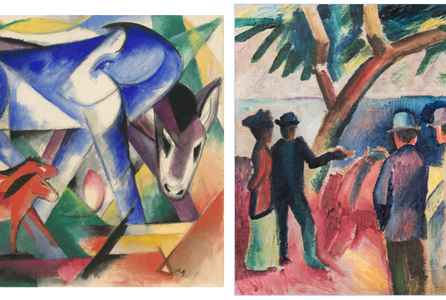 "poster for ""Franz Marc And August Macke: 1909-1914"" Exhibition"