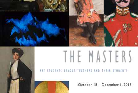 "poster for ""The Masters: Art Students League Teachers and Their Students"" Exhibition"