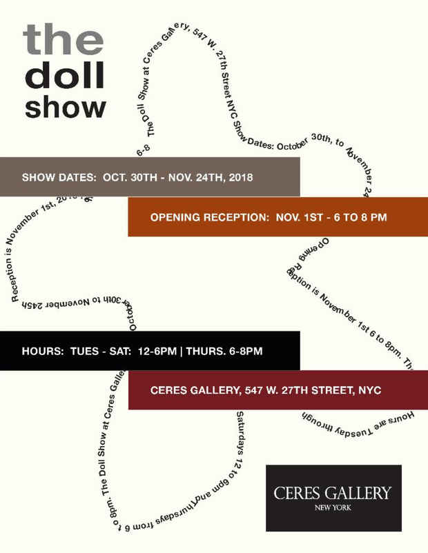 "poster for ""the doll show"" Exhibition"