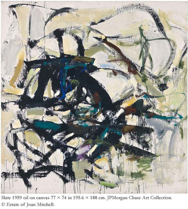 "poster for Joan Mitchell ""Paintings from the Middle of the Last Century, 1953–1962"""