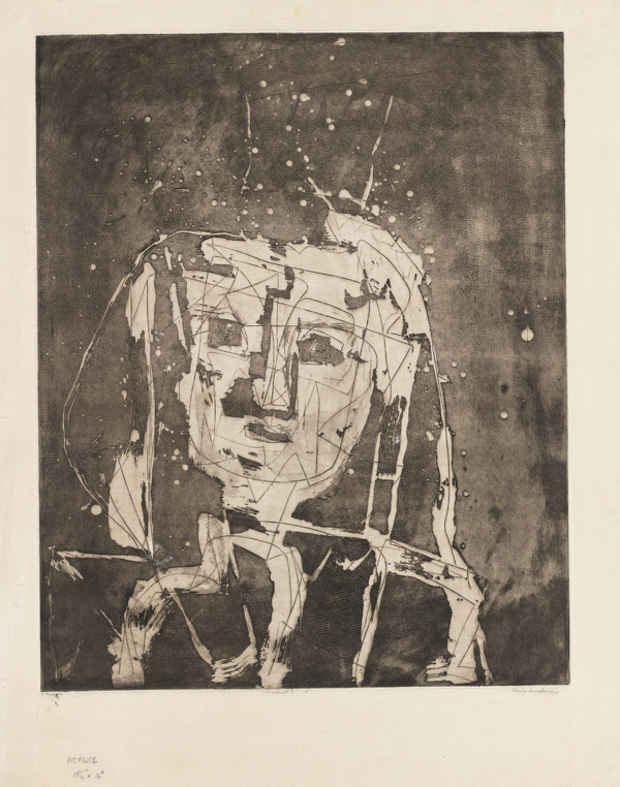 "poster for Louise Nevelson ""The Face In The Moon"""