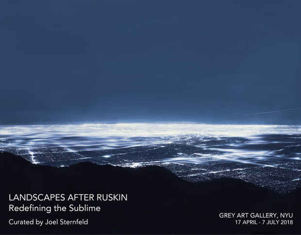 "poster for ""Landscapes after Ruskin: Redefining the Sublime"" Exhibition"