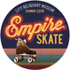"poster for ""Empire Skate: The Birthplace of Roller Disco"" Exhibition"