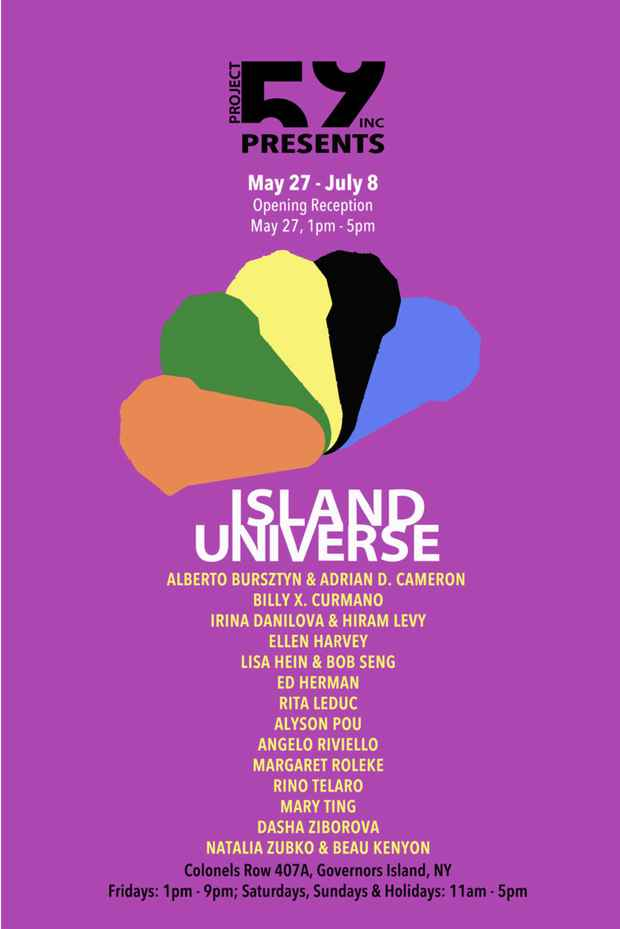 "poster for ""Island Universe"" Exhibition"
