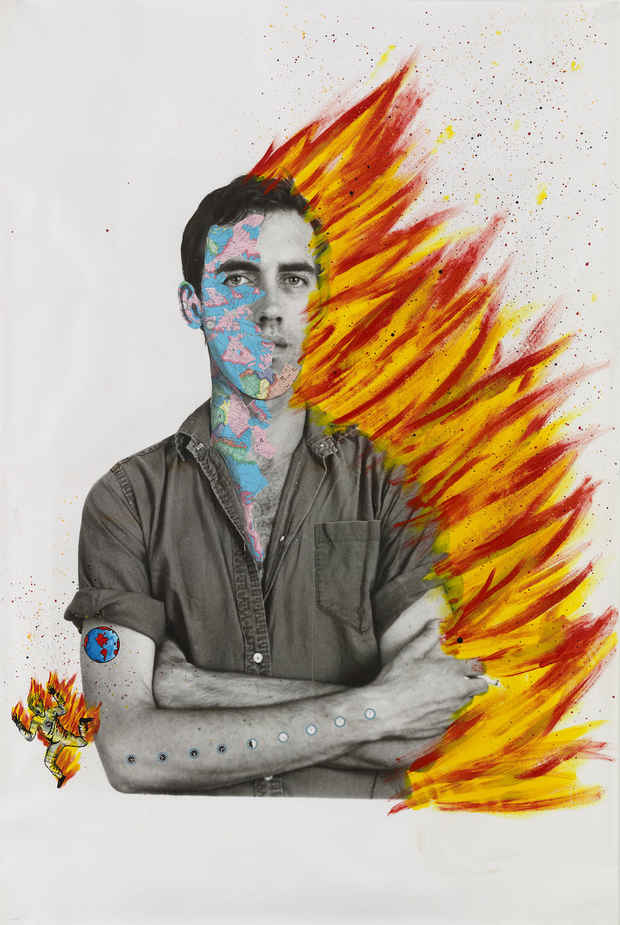 "poster for David Wojnarowicz ""History Keeps Me Awake at Night"""
