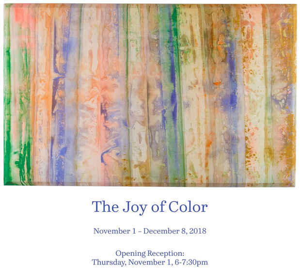 "poster for ""The Joy of Color"" Exhibition"