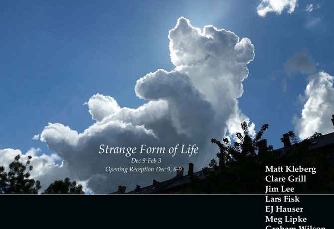 "poster for ""A Strange Form of Life"" Exhibition"
