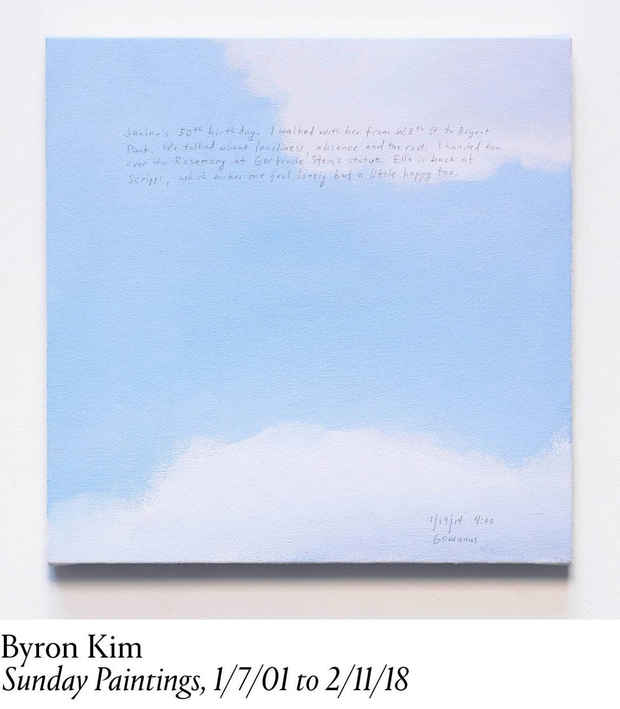 "poster for Byron Kim ""Sunday Paintings"""