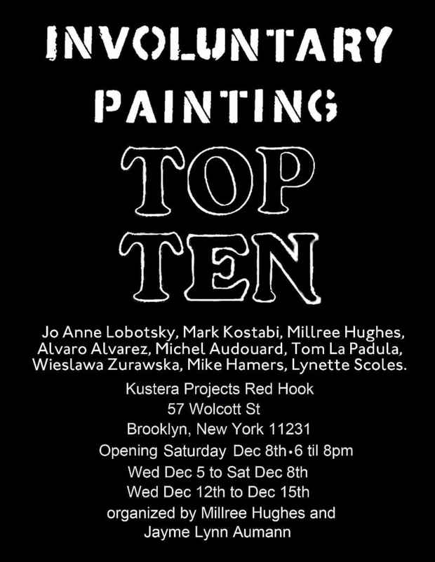 "poster for ""Involuntary Painting Top Ten"" Exhibition"