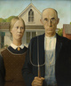 "poster for Grant Wood ""American Gothic And Other Fables"""