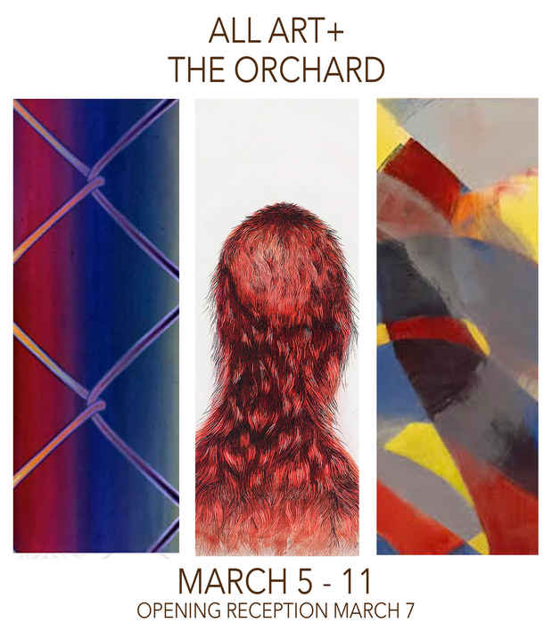 "poster for ""All Art +: The Orchard"" Exhibition"