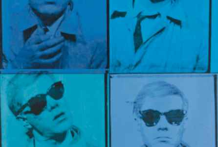 "poster for Andy Warhol ""From A to B and  Back Again"""