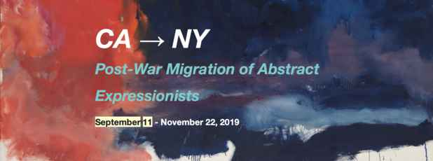 "poster for ""CA → NY Post-War Migration of Abstract Expressionists"" Exhibition"