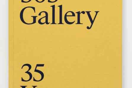 "poster for ""303 Gallery: 35 Years"" Exhibition"