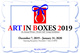 "poster for ""Art In Boxes 2019"" Exhibition"