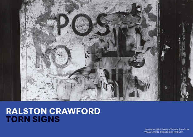 "poster for Ralston Crawford ""Torn Signs"""