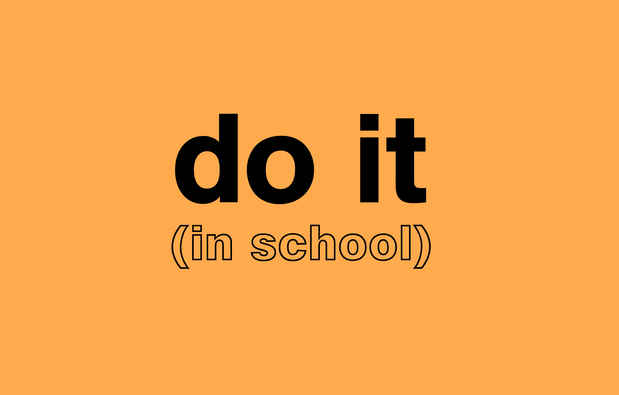 "poster for ""do it (in school)"" Exhibition"