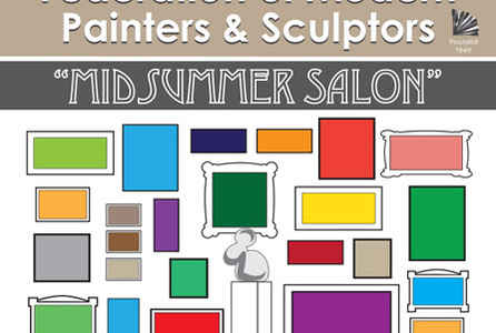 "poster for ""Midsummer Salon"" Exhibition"