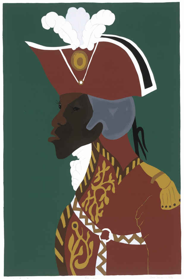 "poster for Jacob Lawrence ""The Life of Toussaint L'Ouverture"""