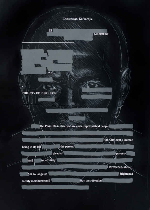 "poster for ""Redaction: A Project by Titus Kaphar and Reginald Dwayne Betts"" Exhibition"