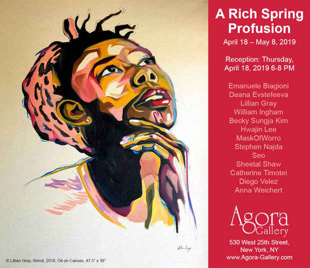 "poster for ""A Rich Spring Profusion"" Exhibition"