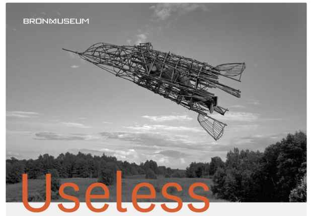 "poster for ""Useless: Machines for Dreaming, Thinking, and Seeing"" Exhibition"