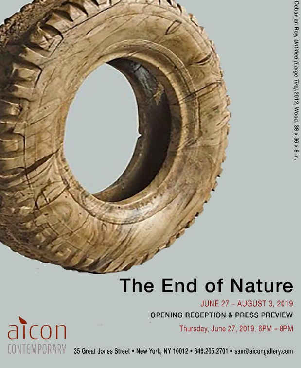 "poster for ""The End of Nature"" Exhibition"