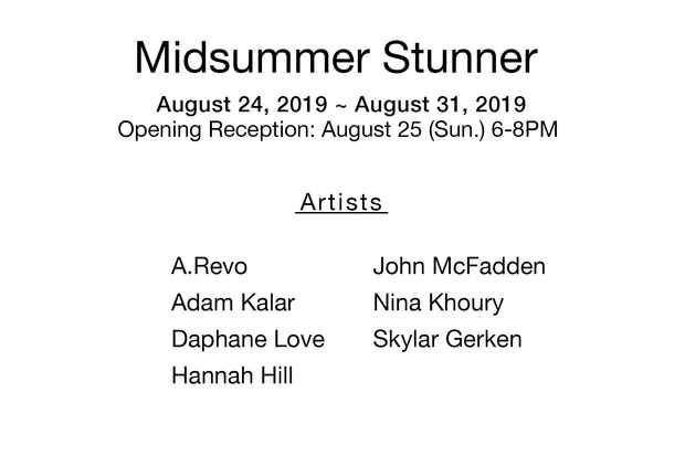 "poster for ""Midsummer Stunner"" Exhibition"