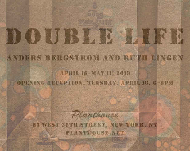 "poster for Anders Bergstrom and Ruth Lingen ""Double Life"""