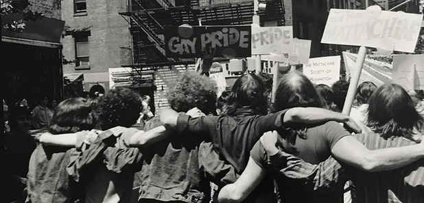 "poster for Fred W. McDarrah ""PRIDE Photographs of Stonewall and Beyond"""