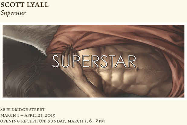 "poster for Scott Lyall ""Superstar"""