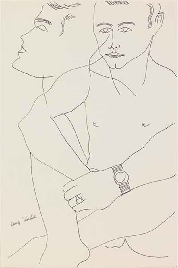 "poster for Andy Warhol ""By Hand: Part II Drawings 1950s – 1960s"""