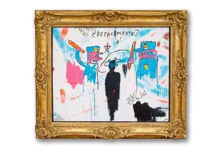 "poster for Jean-Michel Basquiat ""Defacement: The Untold Story"""