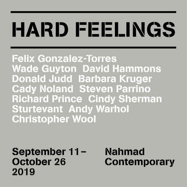 "poster for ""Hard Feelings"" Exhibition"