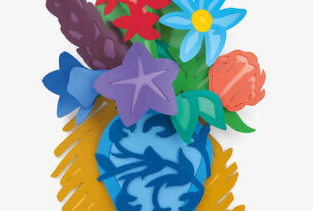 "poster for Tom Wesselmann ""Flowers"""
