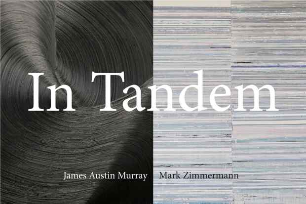 "poster for James Austin Murray and Mark Zimmermann ""In Tandem"""