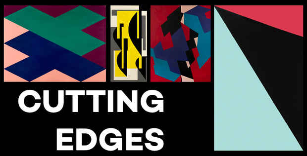 "poster for ""Cutting Edges: Nordic Concrete Art from the Erling Neby Collection"" Exhibition"