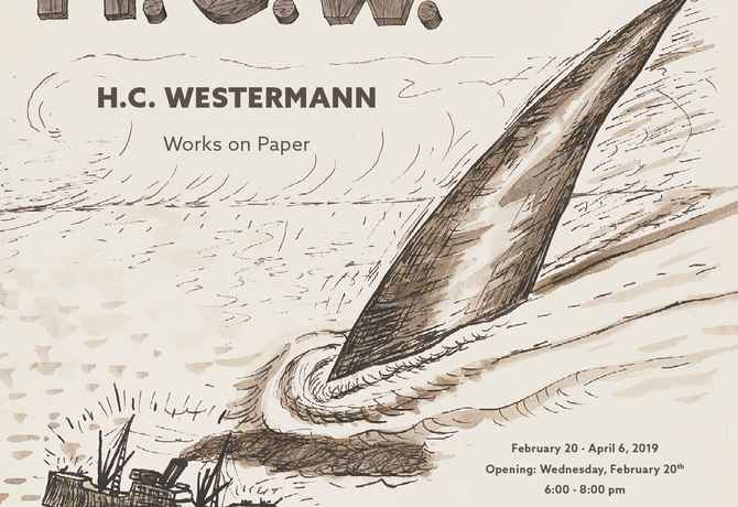 "poster for H.C. Westermann ""Works on Paper"""