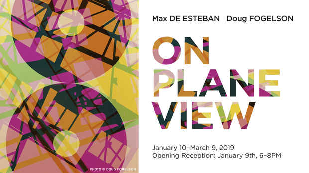 "poster for ""On Plane View"" Exhibition"