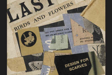 "poster for Kurt Schwitters ""A Selection of Collages"""