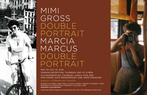 "poster for Mimi Gross and Marcia Marcus ""Double Portrait"""